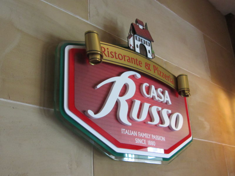 Casa Russo 3D wall sign #2