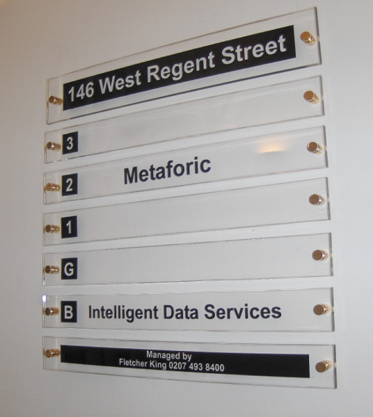 Directional and information sign #2