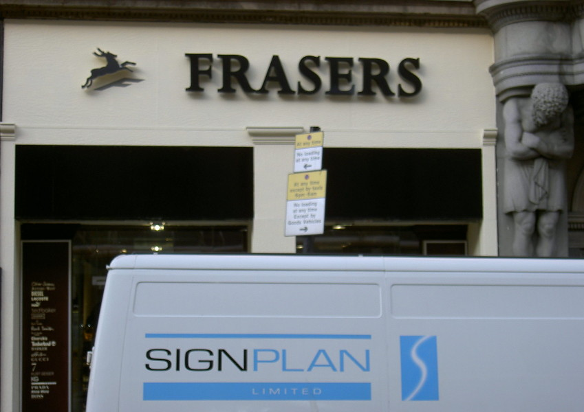Frasers fascia sign