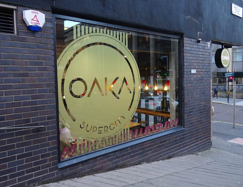 Oaka shop window transfer
