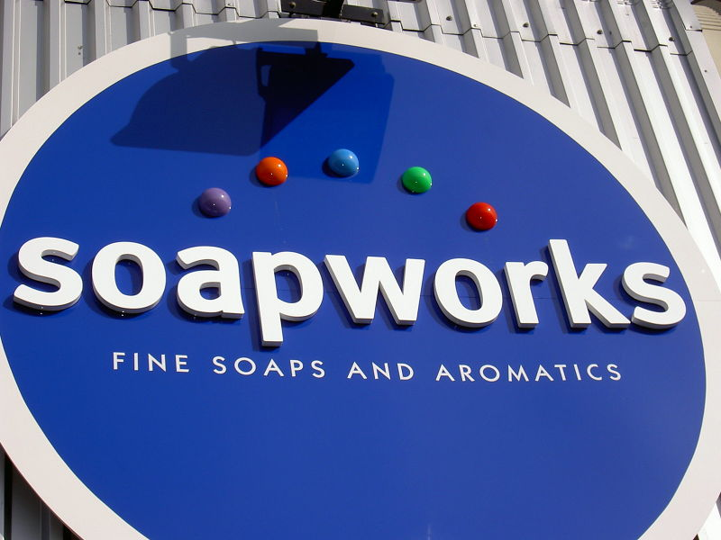 Soapworks factory fascia sign